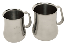 Espresso Milk Pitchers - Stainless - Measuring Scale