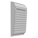 Exhaust Fan Boxframe Housing with Louver