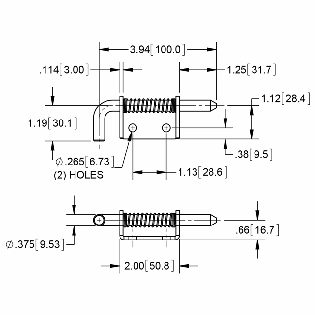 Stainless Steel Spring Loaded Bolt Latches