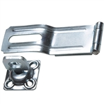 Hasp with Swivel Staple - Zinc Plated