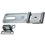 Hasp with Staple - Double Hinge - Zinc Plated