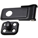 Hasp with Staple - Black Powder Coated