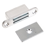"Magnetic Catch - Aluminum - Nickel Plated - 1-7/8"" x 1/2"""