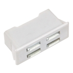 "Snap-In Magnetic Catch - Plastic - Zinc Plated - 1"" x 3/8"" x 1/2"""