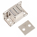 "Magnetic Catch - Die Cast Zinc - Nickel Plated - 1-5/8"" x 3/4"" x 3/4"""
