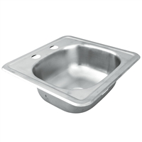 Two-holed Stainless Steel Bar Sink