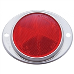 "3-3/16"" Quick Mount Reflector - Aluminum Base - Red"
