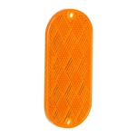 "4"" x 2"" Oval Quick Mount Reflector - Amber"