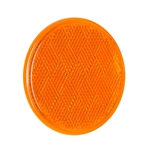 "3"" Round Quick Mount Reflector - Amber"