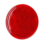 "3"" Round Quick Mount Reflector - Red"