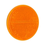 "2-3/8"" Round Quick Mount Reflector - Amber"