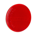 "2-3/8"" Round Quick Mount Reflector - Red"