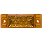 13 LED Rectangular Clearance Marker Amber