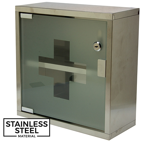First Aid Cabinet - Stainless