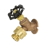 Brass Flanged Sillcock w/ Stuffing Box & Vacuum Breaker - FIP Inlet - Series 112VB