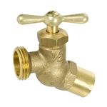 Brass No Kink Hose Bibb - Sweat Inlet - Series 163IG