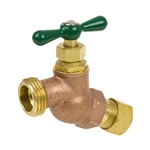 Brass No Kink Hose Bibb - Compression Inlet - Series 167