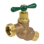 Brass No Kink Hose Bibb - Sweat