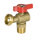 Brass Boiler Drain - MIP - 1/4 Turn