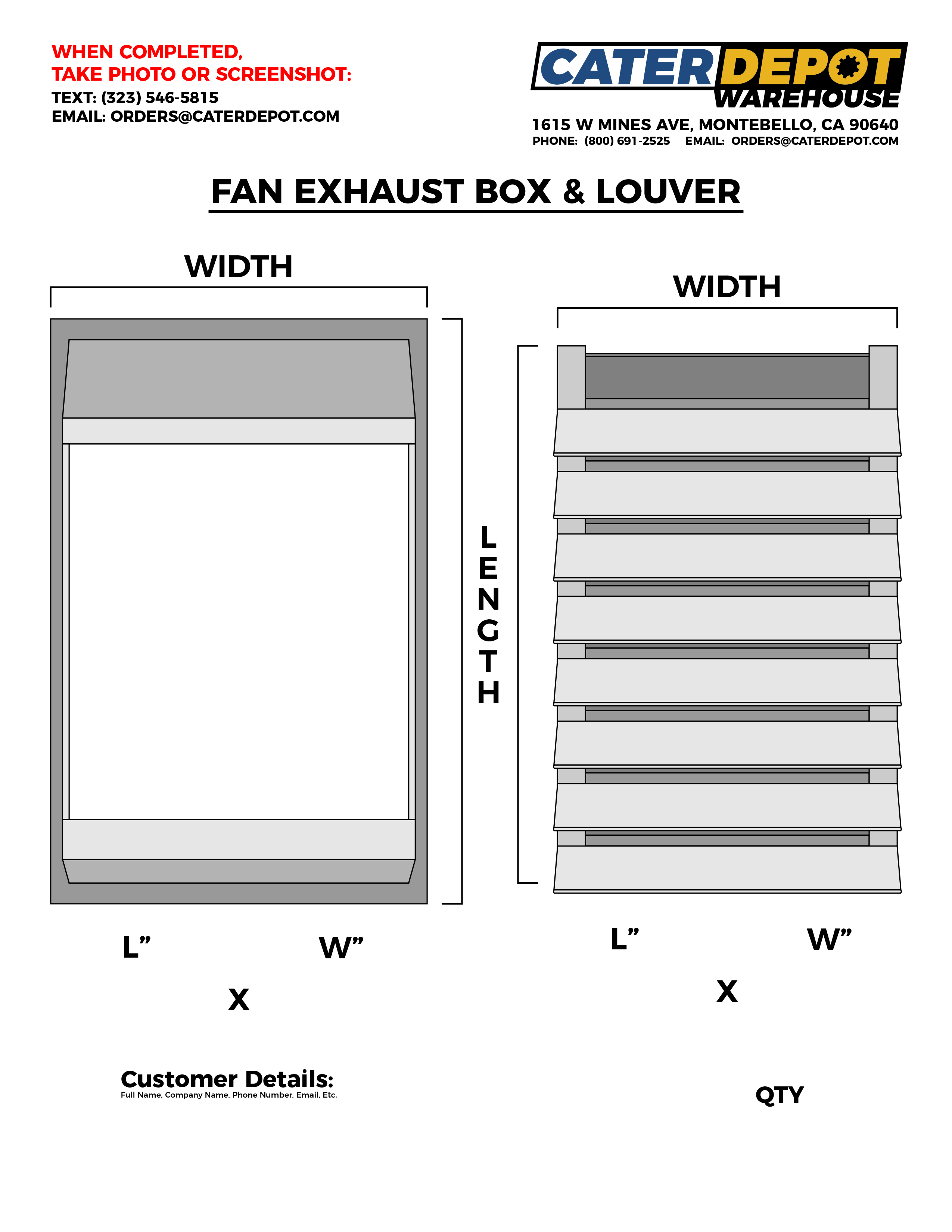 Custom Boxframe Housing with Louver