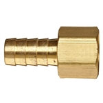 Brass Coupler - Barb x Female Pipe