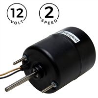 "3-1/2"" 12V Fan Motor - 2 Speed - Long Shaft"