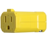 Connectors - 2 Pole, 3 Wire - 15A-125V - Female Receptacle - Yellow