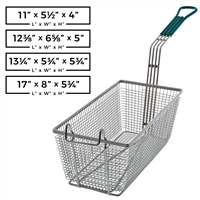 Rectangular Wire Fry Basket with Plastic Handle