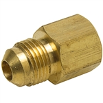 Brass Female Coupling - Flare x Female Pipe