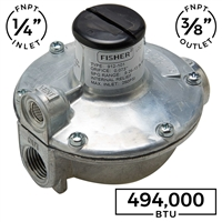 "Fisher Single-Stage Small Portable Appliance Regulator - 1/4"" FNPT x 3/8"" FNPT (Fisher)"