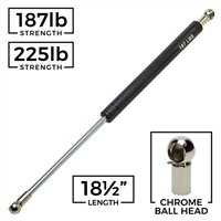 Chrome Ball Head Gas Spring Hydraulic Shock - 18-1/2""