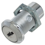 Key-Locking Bolt Latch - Zinc - Chrome Finish