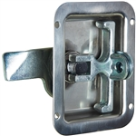 Folding T Handle - Single Point - Stainless Steel - Padlockable