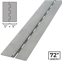 "Stainless Steel Piano Hinge - 1"" x 72"" Length"