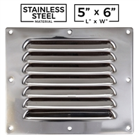 Stainless Steel - Louvered Vent