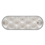 "6"" Oval LED Utility Light - White LED/Clear Lens"