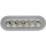 "22 LED 6"" Oval Back-Up Light - GLO Light"
