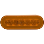 22 LED Oval GLO Light Amber/Amber - 6""