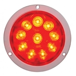 "10 LED 4"" Deep Dish S/T/T Light - Red/Red"
