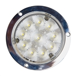 "4"" Deep Dish Utility Light - 10 LED - White"