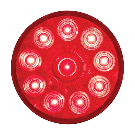 "10 LED 4"" S/T/T Light - Red/Red"