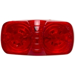 12 LED Rectangular Clearance Marker Red