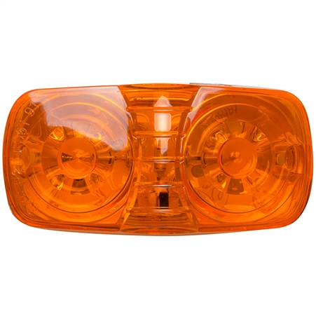 12 LED Rectangular Clearance Marker Amber