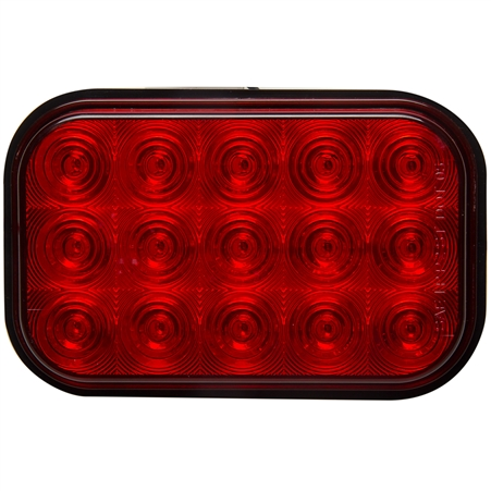 15 LED Rectangular S/T/T Light - Red/Red