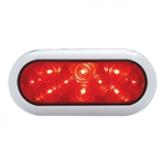 10 LED Oval S/T/T Light w/ Bezel - Red/Red