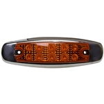 10 LED Reflector Rectangular Clearance Marker Amber