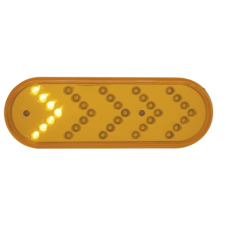 35 LED Sequential Oval Turn Signal - Amber/Amber