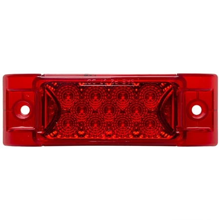 13 LED Rectangular Clearance Marker Red