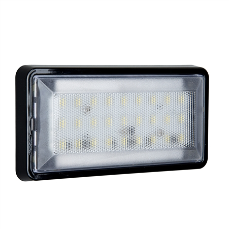 27 LED Rectangular 530 Lumen Cargo Light - Surface Mount - White