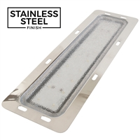 LED Recessed Rectangular Interior Lamp - Stainless Steel Finish